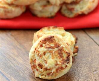 Cheesy Pizza Wheels #BreadBakers