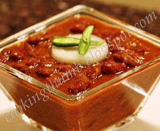 Punjabi Rajma Masala (Red Kidney Beans Curry)
