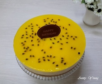 免烤百香果乳酪蛋糕 (Non-bake Passion Fruit Cheesecake)