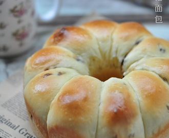 葡萄干优格面包 (一次发酵法) Raisin Yogurt Bread (Just Once Fermentation)
