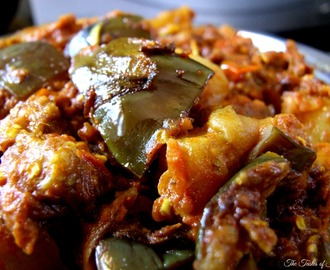 Baingan Aloo Ki Sabzi – Brinjal and Potato recipe