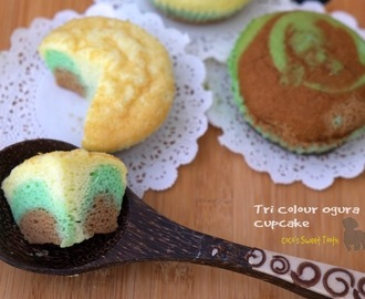 Tri Colour Ogura Cupcake 三色相思蛋糕