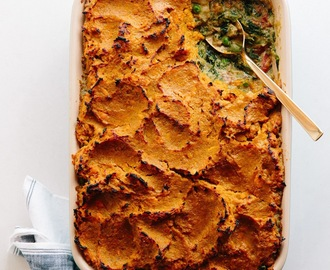 Shepherd's Pie with Sweet Potato and Chicken Curry