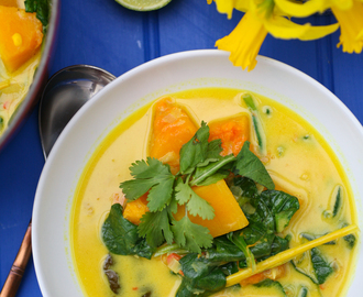 Butternut Squash, Lemongrass, Coconut and Spinach Curry