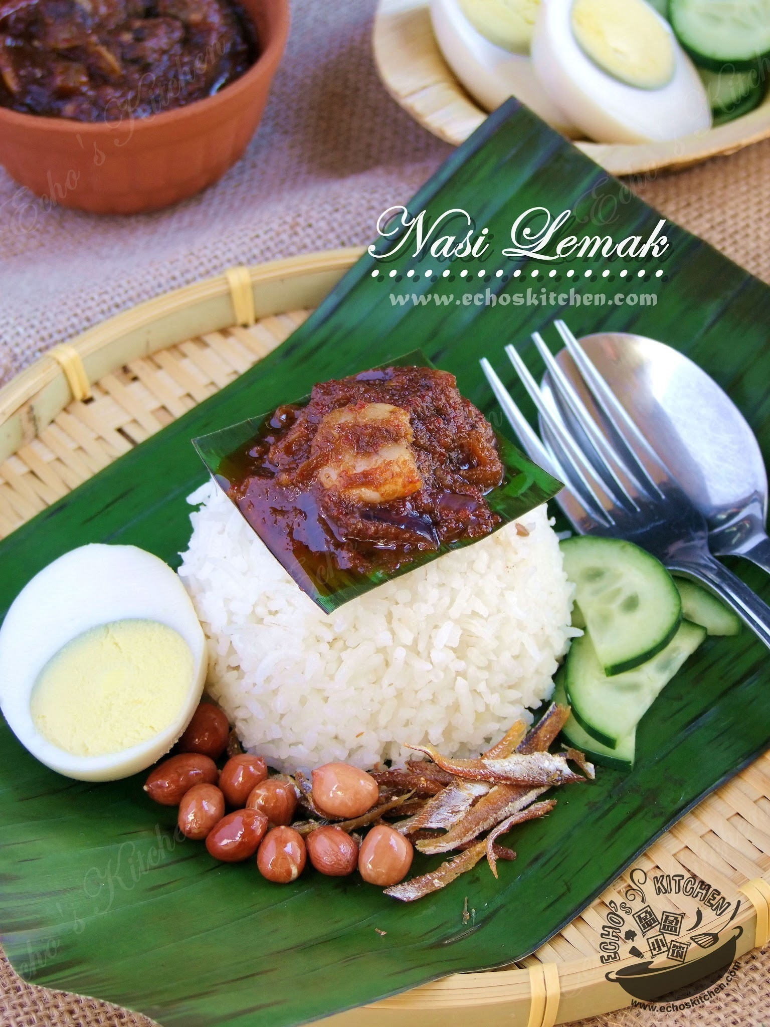 Nasi Lemak (Rice Cooked In Coconut Milk)