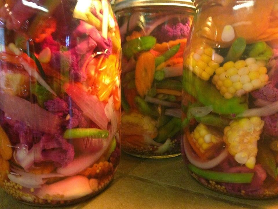 Canning Cookbook- Kicked Up Veggie Pickles