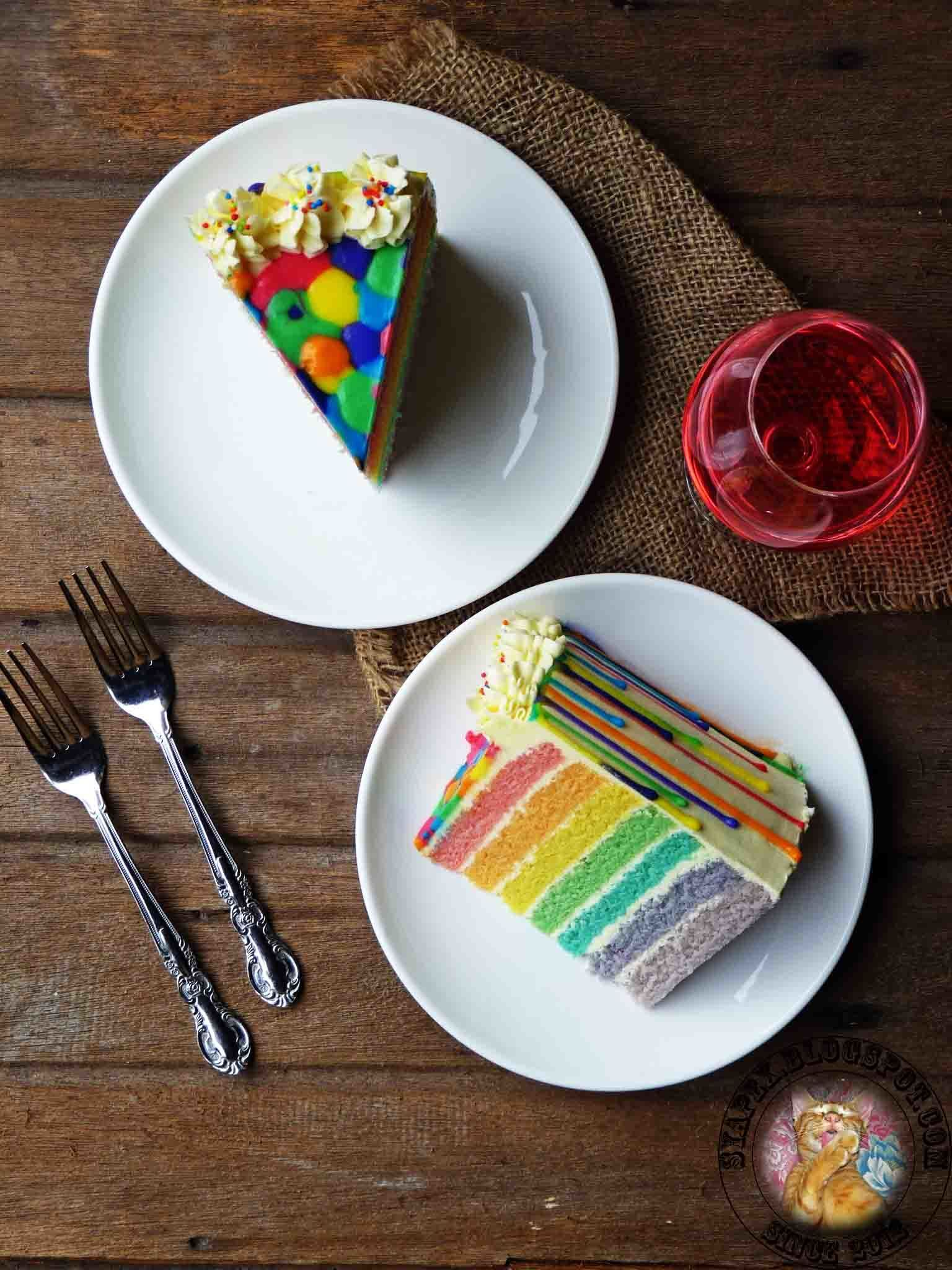 Rainbow Cake and Swiss Meringue Buttercream