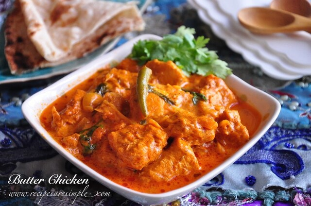 Best Indian Butter Chicken –  Delicious Creamy Chicken in Tomato Gravy