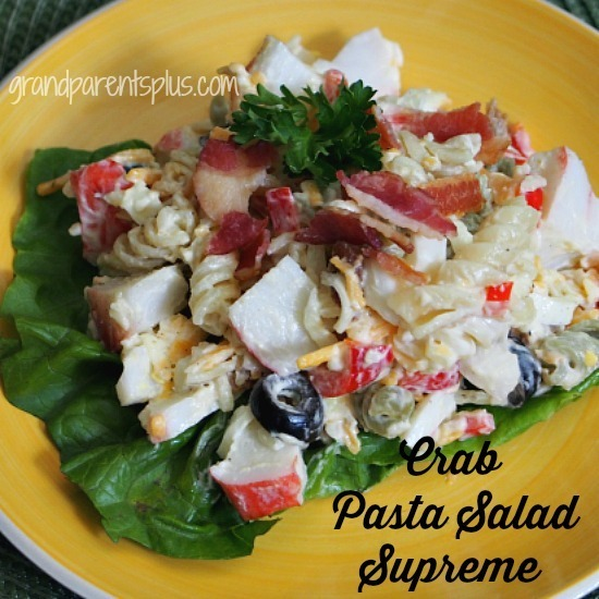 Crab Pasta Salad Supreme