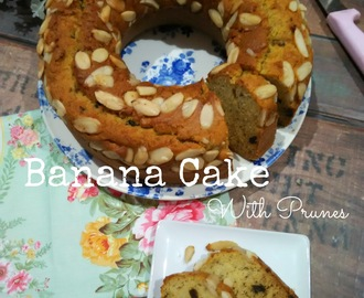 Banana Cake with Prunes