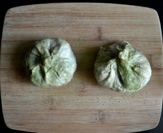 Burmese Steamed Coconut Buns with Matcha