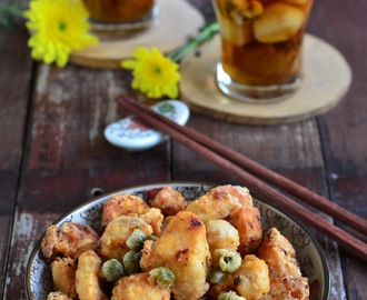五味菊花鸡 Fried Chicken with Honey Chrysanthemum Sauce