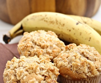 Banana muffins with oatmeal topping (банановые маффины)