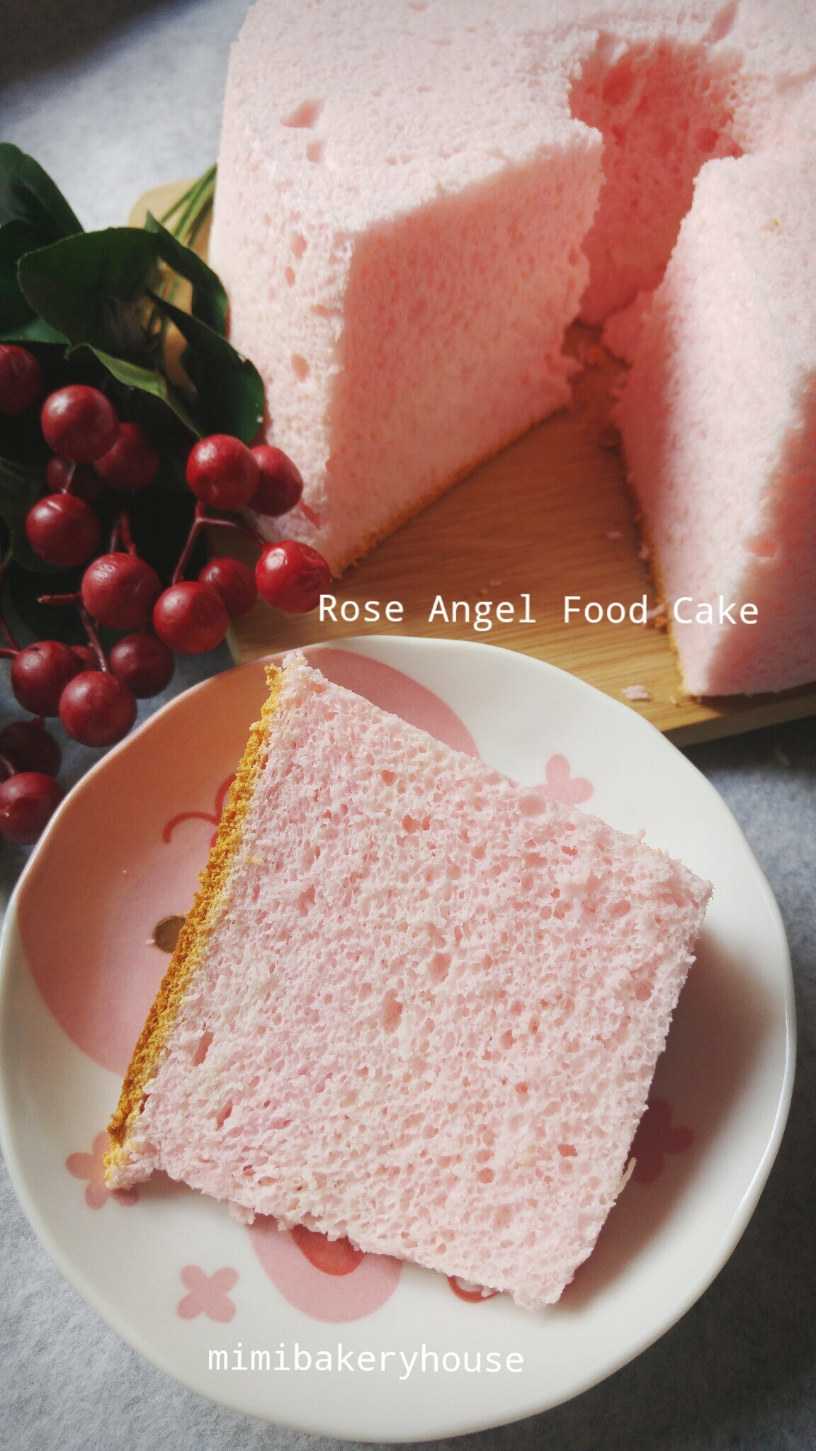 Rose Angel Food Cake [07 Mar 2016]