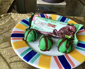 No Bake Mint Chocolate Chip Cake Balls