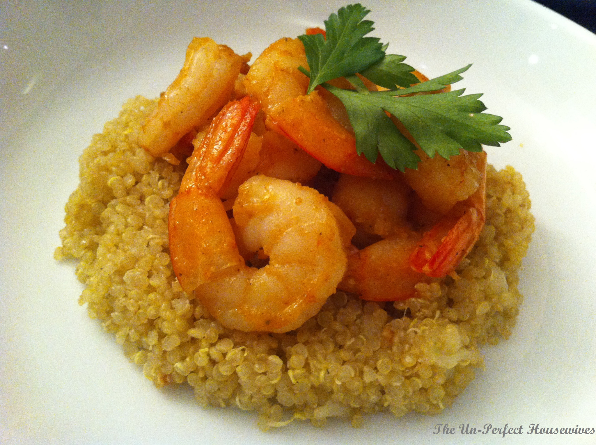 Garlic Shrimp with a side of Quinoa