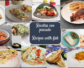 Recetas con pescado/ Recipes with fish
