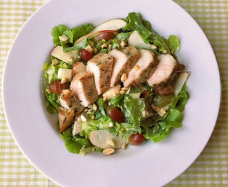 """Not Totally Healthy"" Chicken Waldorf Salad"