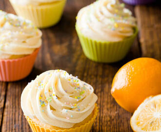 Spring Fresh Meyer Lemon Ricotta Cupcakes with Ginger Buttercream