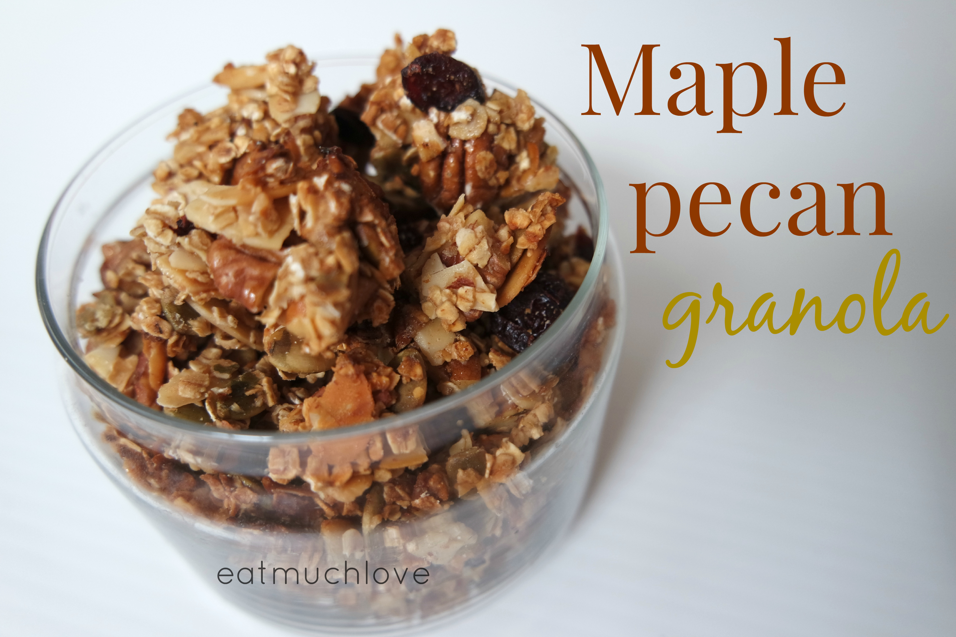 Basic granola cluster recipe (vegan friendly)