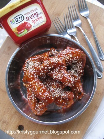 Korean Seasoned Fried Chicken @ Yangnyeom-tongdak 韩国甜辣炸鸡