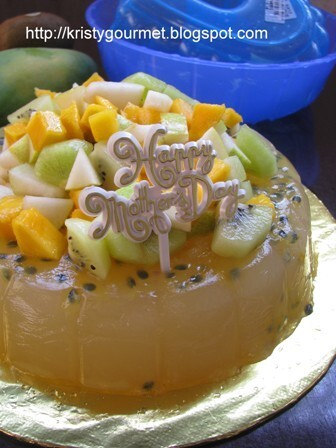 Passion Fruit Jelly Cake 百香果菜燕蛋糕