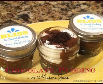 Mason Jar Pudding Treats with FREE Printable
