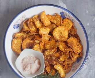 Chilli and Rosemary Baked Sweet Potato Chips