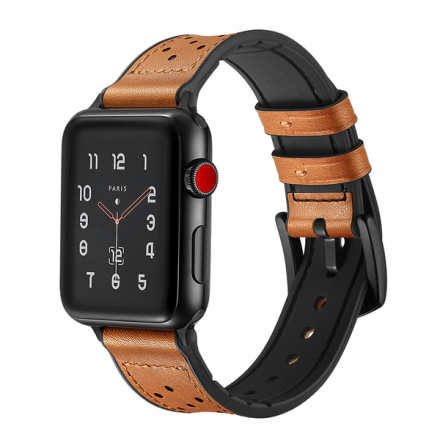 Apple watch armband i äkta läder 42 mm - brun