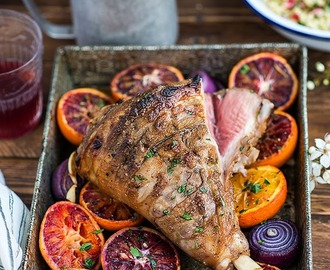 Persian Leg of Lamb with jewelled tabbouleh