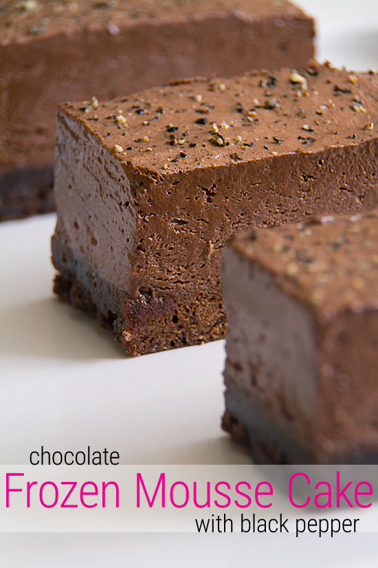 Frozen Chocolate Mousse Cake with a Pinch of Pepper