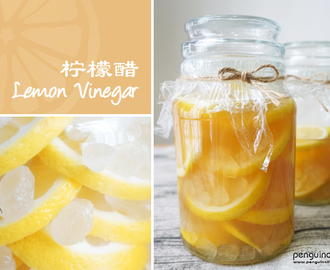 自制檸檬醋食譜 Homemade Lemon Vinegar Recipe