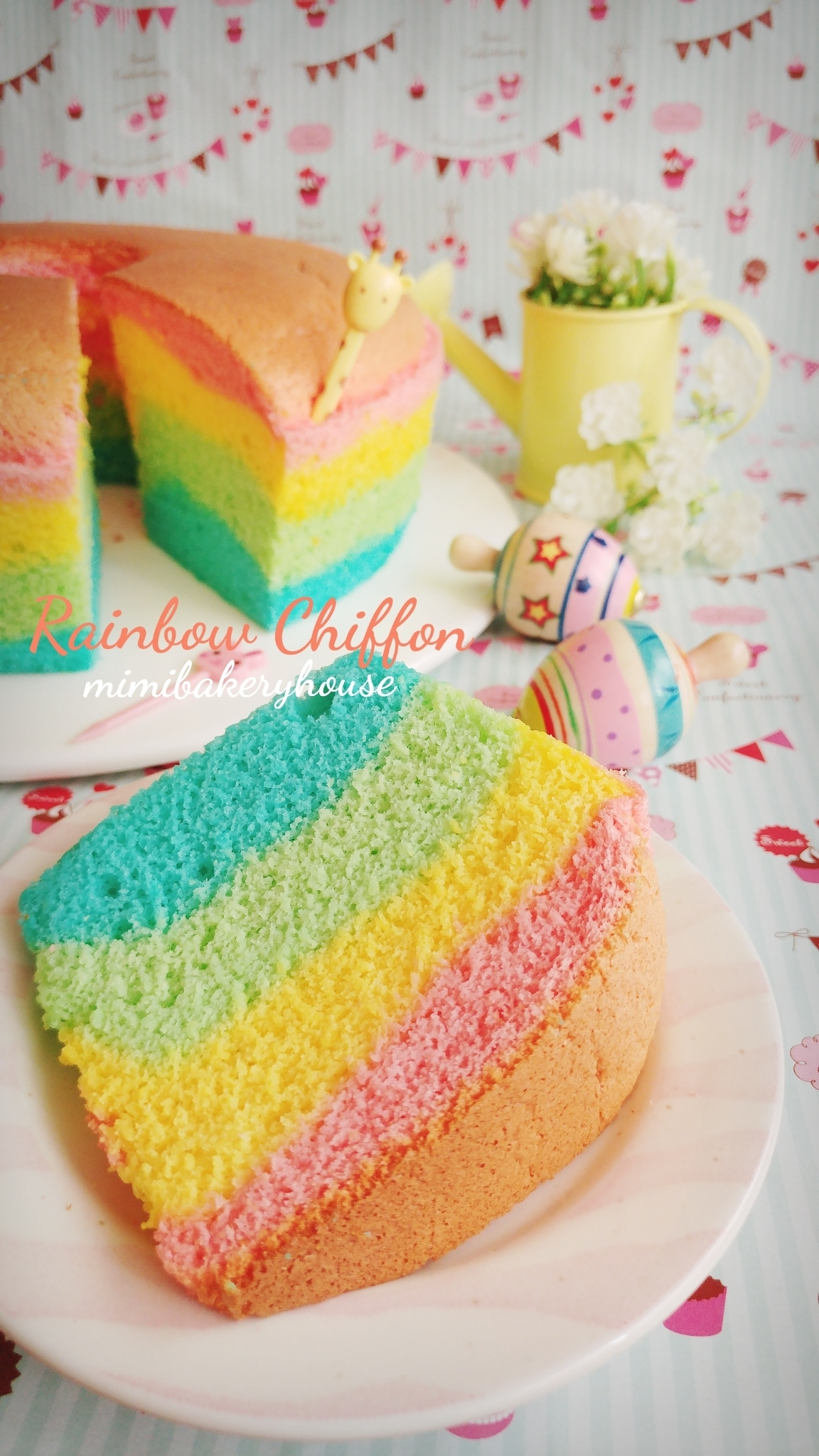 Rainbow Chiffon Cake 2 [07 June 2016]