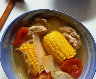 粟米榨菜番茄汤 Sweet Corn with Pickled Mustard Tuber Soup