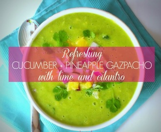 Refreshing Pineapple + Cucumber Gazpacho Recipe for Spring Detox