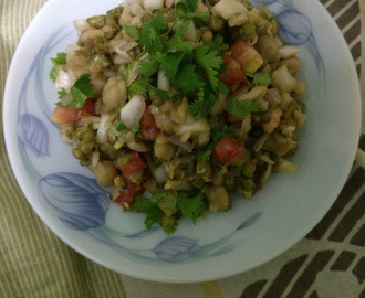 moong channa chat