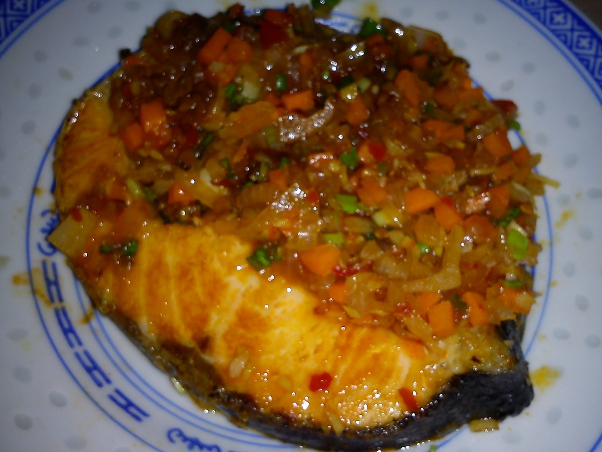 EZCR#65  - FRIED SALMON WITH FRAGRANT SAUCE