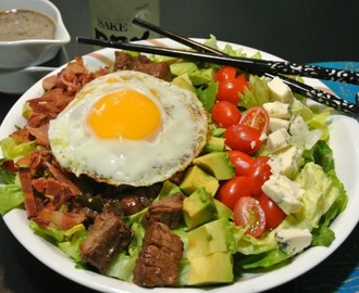 Shaking Beef Cobb Salad #SundaySupper