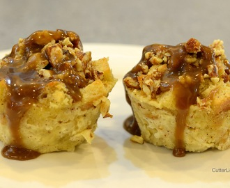 Almond Bread Pudding with Cognac Caramel
