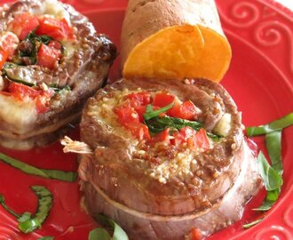 Spinach Stuffed Steak Pinwheels #SundaySupper