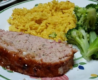 Ham Loaf with Mustard Brown Sugar Glaze