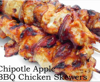 Chipotle-Apple BBQ Chicken Skewers  --AND--  A Give-Away!
