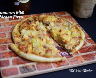 夏威夷鸡肉披萨 ~ Hawaiian BBQ Chicken Pizza