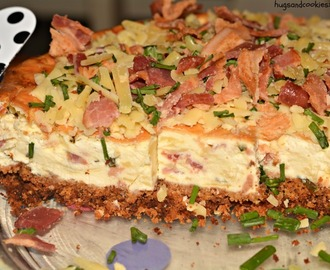 Cheddar & Bacon Savory Cheesecake