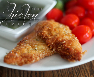 Paleo Chicken Strips & Honey Dill Dip