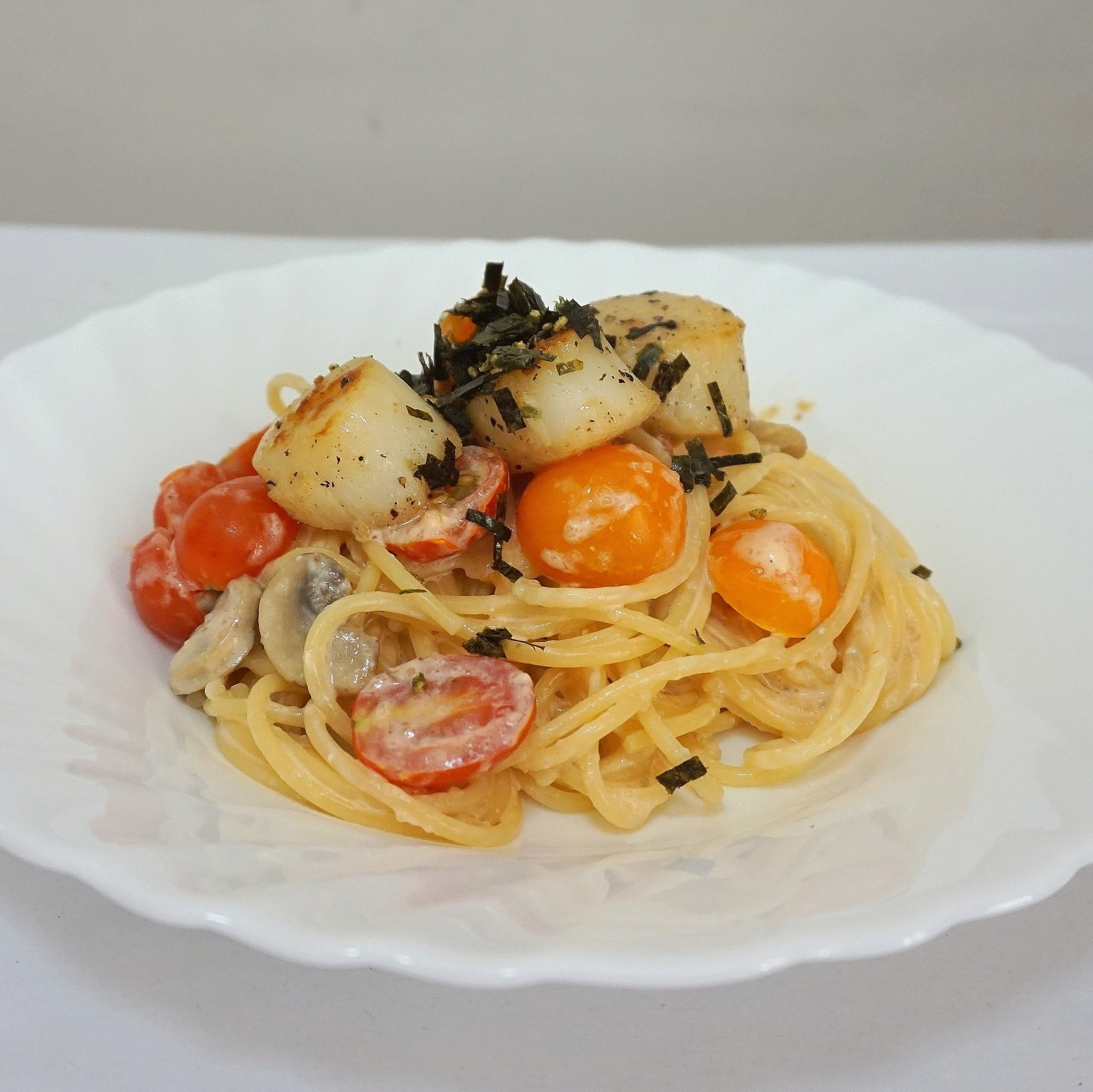 Mentaiko Pasta with Seared Scallops