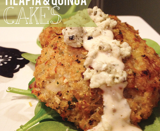 Tilapia & Quinoa Cakes {Clean Eating Recipe}