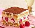 Saigon Cinnamon Tiramisu with Fresh Raspberries