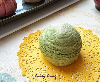 绿茶千层酥 ~ Green tea Flaky Mooncake