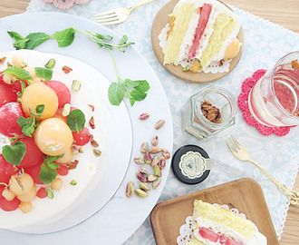 Watermelon and Rose-scented Cake